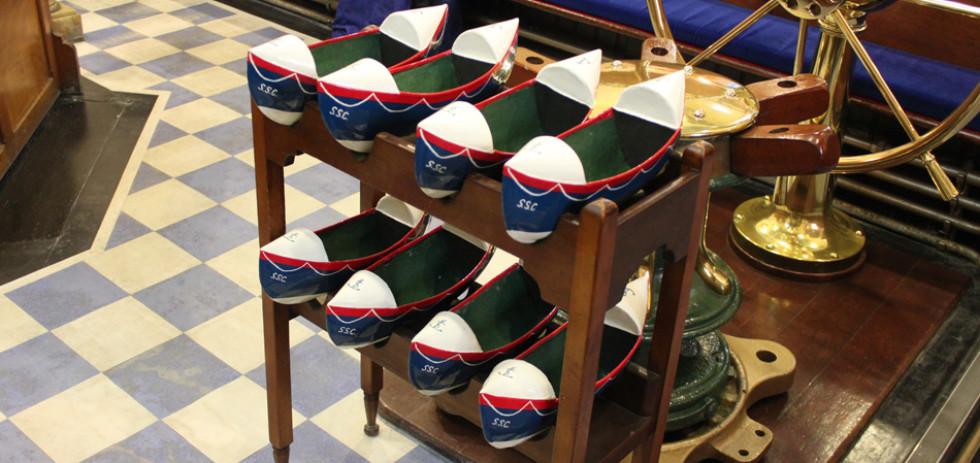 Sinclair Seamen's Church - collection plates © Jonathan Brennan
