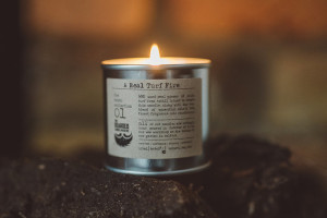 A Real Turf Fire Soy Candle © The Bearded Candle Makers