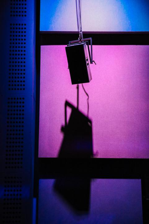Suspended speaker at SARC © Jonathan Brennan