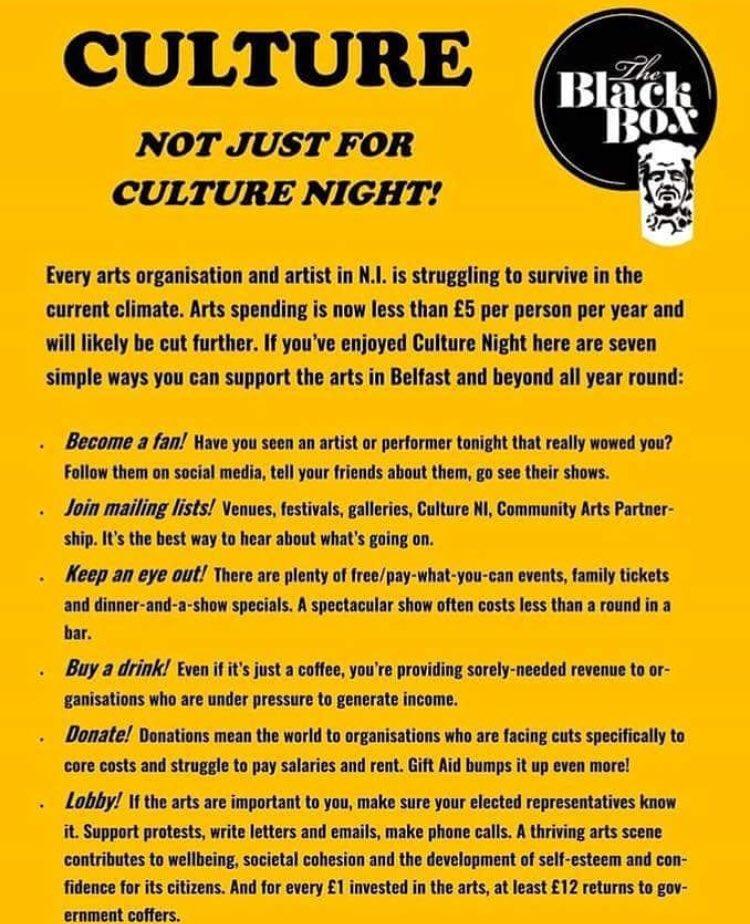 The Black Box's advice for Culture Night Belfast
