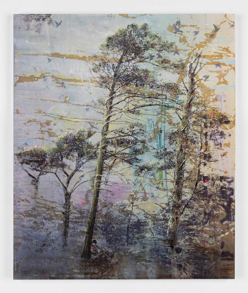 Elizabeth Magill, Still (1), 2017, oil and silkscreen on canvas, 183 x 153 cm / 72 x 60.2 in