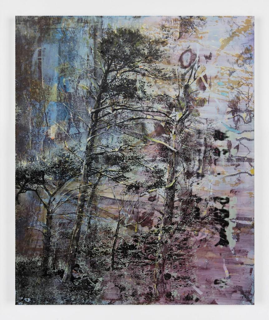 Elizabeth Magill, Still (2), 2017, oil and silkscreen on canvas, 183 x 153 cm / 72 x 60.2 in